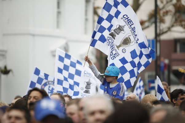 Chelsea fans at Stamford Bridge